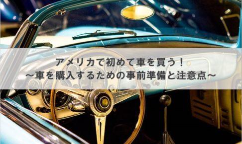 アメリカで初めて車を買う! ~車を購入するための事前準備と注意点~