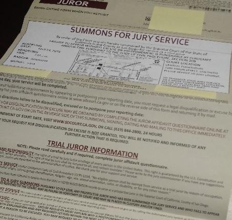 アメリカ生活 陪審員召喚の免除│Jury Duty Summons for Jury Serviceへの対処法