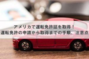 アメリカで運転免許証を取得! ~運転免許の申請から取得までの手順、注意点~