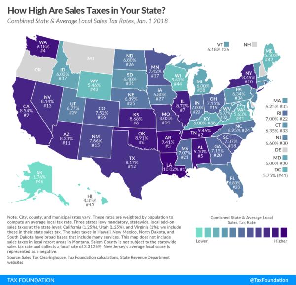 アメリカ生活 セールスタックス(小売売上税)を比較│州によってこれだけ違う
