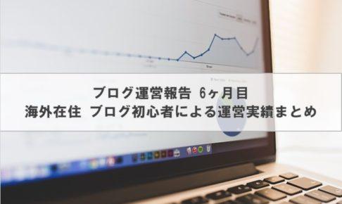 ブログ運営報告 6ヶ月目| 海外在住 ブログ初心者による運営実績まとめ