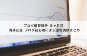 ブログ運営報告   海外在住ブログ初心者による運営実績 8ヶ月目
