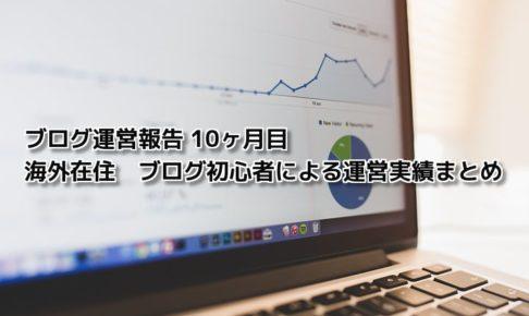 ブログ運営報告 | 海外在住ブログ初心者による運営実績10ヶ月目